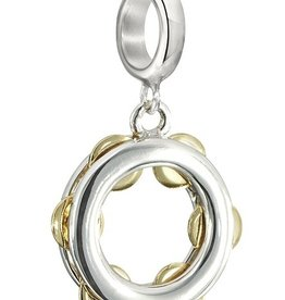 Chamilia Sterling SIlver - Tambourine - Jingles with Gold Plating