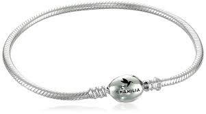 Chamilia Oval Snap Bracelet Sterling Silver 7.1 in