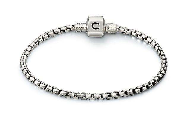 Chamilia Box Chain Bracelet - Oxidized (18cm/7.1 in)