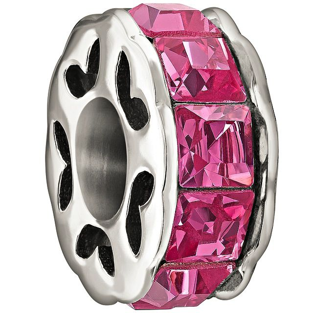 Chamilia Sterling Silver w Stone - Spark - Pink