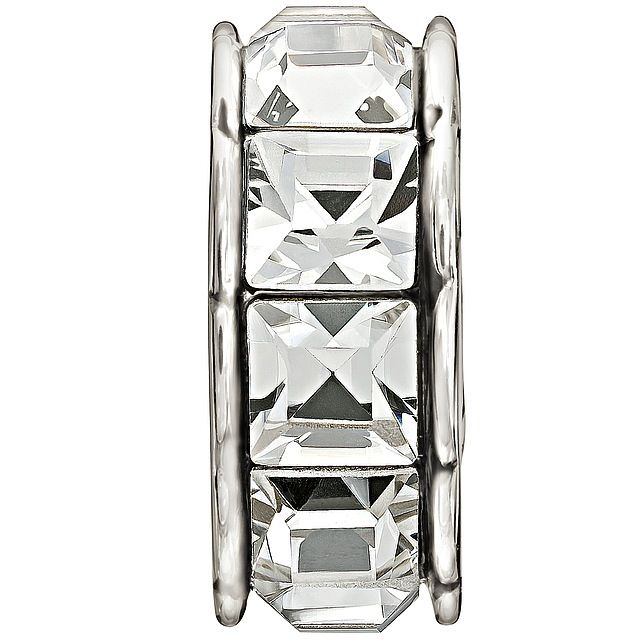 Chamilia Sterling Silver w Stone - Spark - Crystal