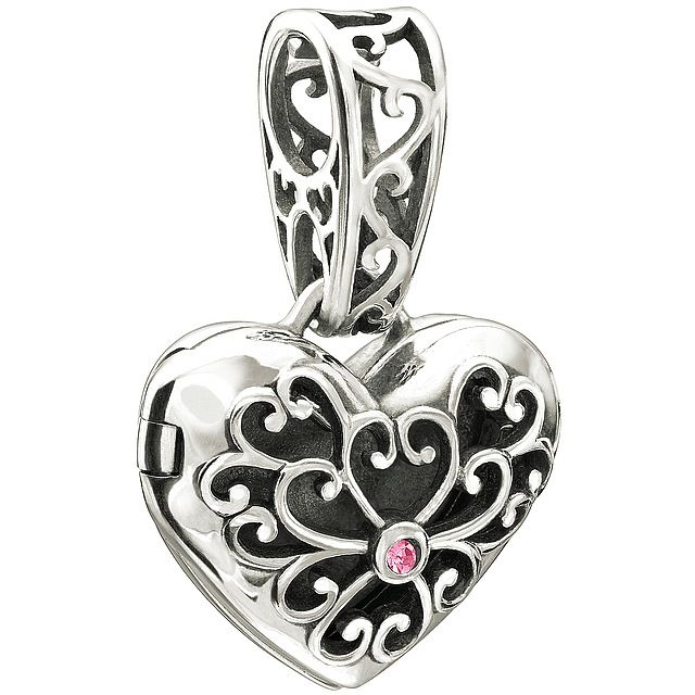 Chamilia Sterling Silver w Stone - In My Heart Locket - Pink Swarovski