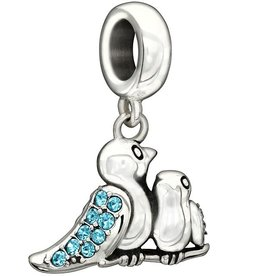 Chamilia Birds of a Feather - Indicolite Swarovski