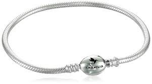 Chamilia Oval Snap Bracelet Sterling Silver 7.9 in