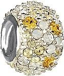Chamilia Jeweled Kaleidoscope- Yellow Swarovski