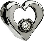Chamilia Jeweled Heart- Clear CZ
