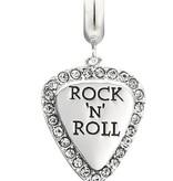 Chamilia Sterling SIlver - Lil' Bit Rock 'N Roll Guitar Pick - Swarovski Crystal