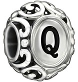 Chamilia Initially Speaking Q - Black Enamel