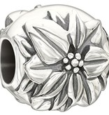 Chamilia Sterling Silver - Flower of the Month - December Poinsettia