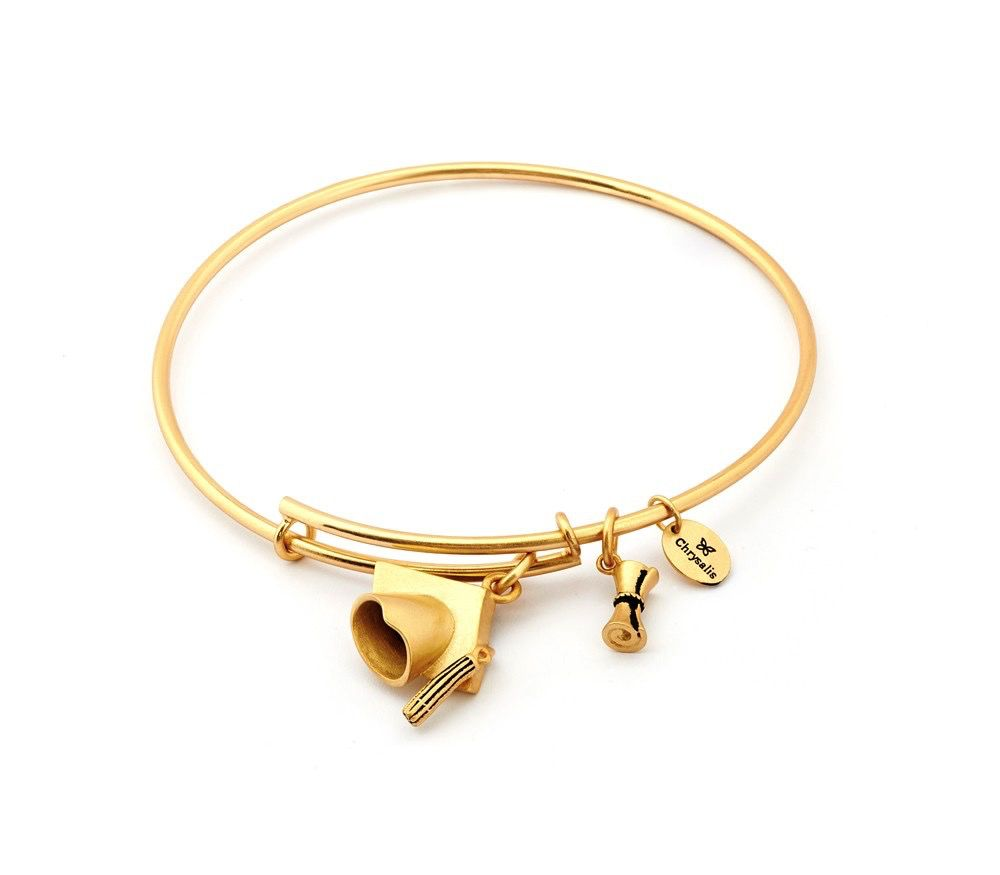 Chrysalis Spirited Academia Expandable Bangle- Standard Size: Gold Plated