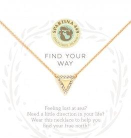 Spartina 449 Sea La Vie Necklace 18 Find Your Way/Arrow
