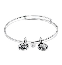 Life Collection - Blossom Expandable Bangle - Standard Size - Silver