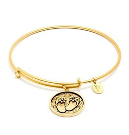 Oceania Collection - Flip Flop Expandable Bangle - Gold - Small
