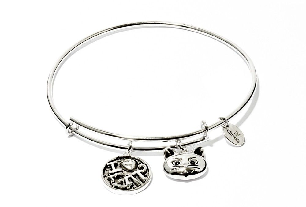 Chrysalis Friends & Family Collection - I Love Cat - Standard Size - Silver