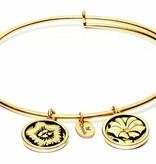 Flourish Collection Expandable Bangle - September Morning Glory - Standard Size - Gold