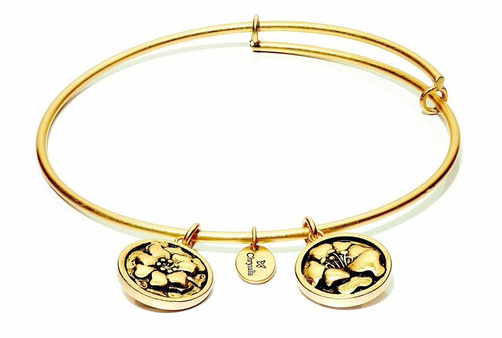Flourish Collection Expandable Bangle - October Marigold - Small Size - Gold