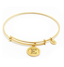 Initial E Expandable Bangle - Gold
