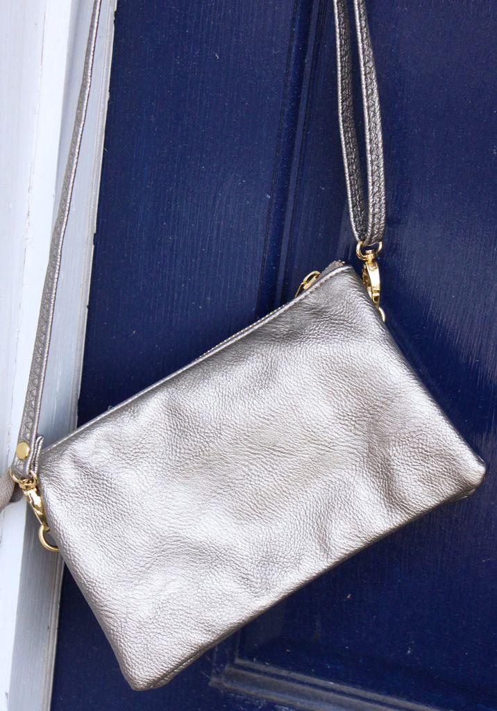Caroline HIll Liz Crossbody Bag - Pewter