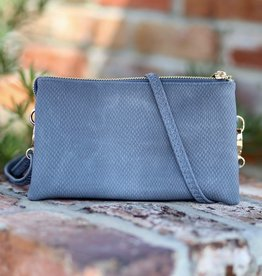 Caroline Hill Liz Custom Crossbody - Textured Denim