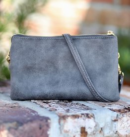 Caroline Hill Liz Custom Crossbody- Distressed Gray