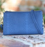 Caroline Hill Liz Custom Crossbody - Snake Navy