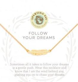 Spartina 449 Sea La Vie Necklace 18 Follow Your Dreams/Feather