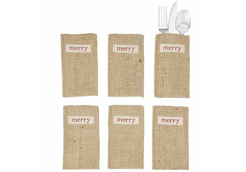 Jute Merry Utensil Holder Set
