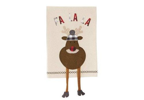 Reindeer Dangle Leg Towel