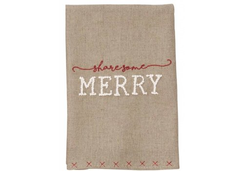 Merry French Knot Towel