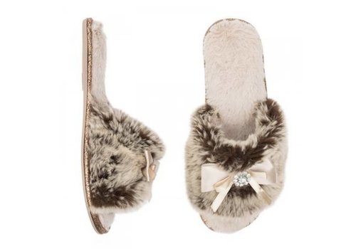 Pia Rossini Josie Faux Fur Mink Slippers