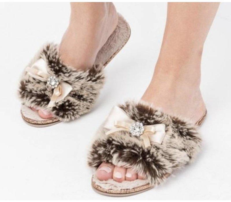 Josie Faux Fur Mink Slippers