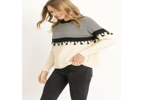 Le Lis Cream Sweater with Tassel Detail
