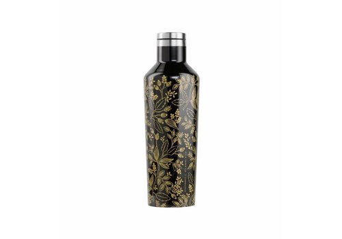 Corkcicle 16 oz Rifle Paper Canteen- Black Queen Anne