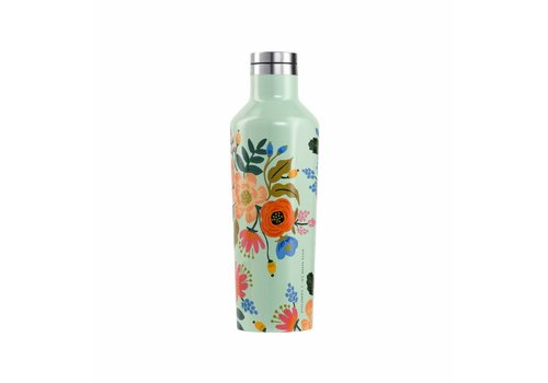 Corkcicle 16 oz Rifle Paper Canteen- Mint Lively Floral