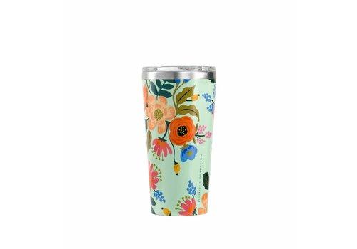 Corkcicle 16 oz Rifle Paper Tumbler- Mint Lively Floral