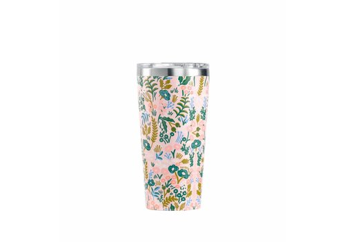 Corkcicle 16 oz Rifle Paper Tumbler- Pink Tapestry
