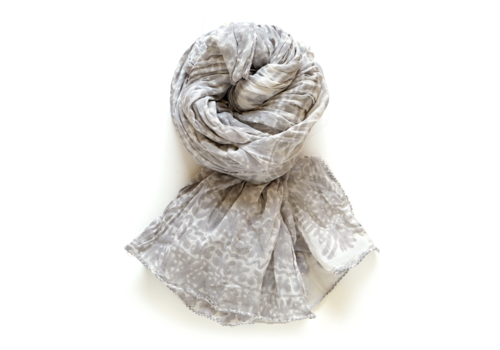 Halo and Swan Marrakesh-Dove Grey Scarf