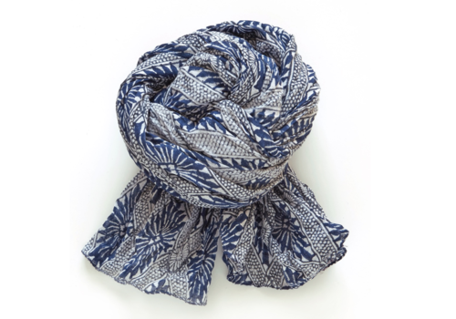 Halo and Swan Hawaii-Navy White Scarf