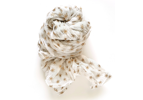 Halo and Swan Morocco Stars-White Gold Scarf