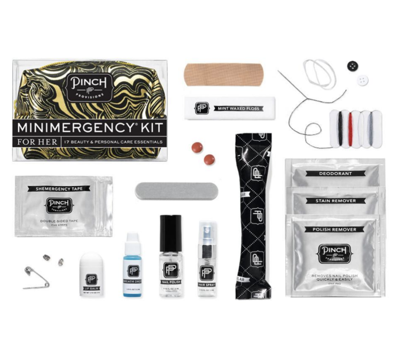 Swirl Black and Gold- Minimergency Kit for Her