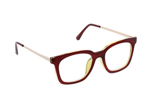 Moderne Metal-Red/Gold Readers +2.00