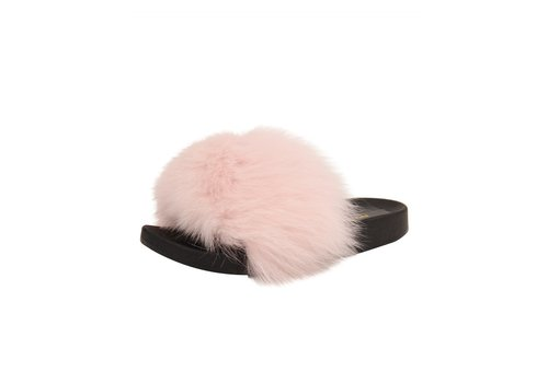 Patricia Green Collections Fox Fur Lt Pink Sandal