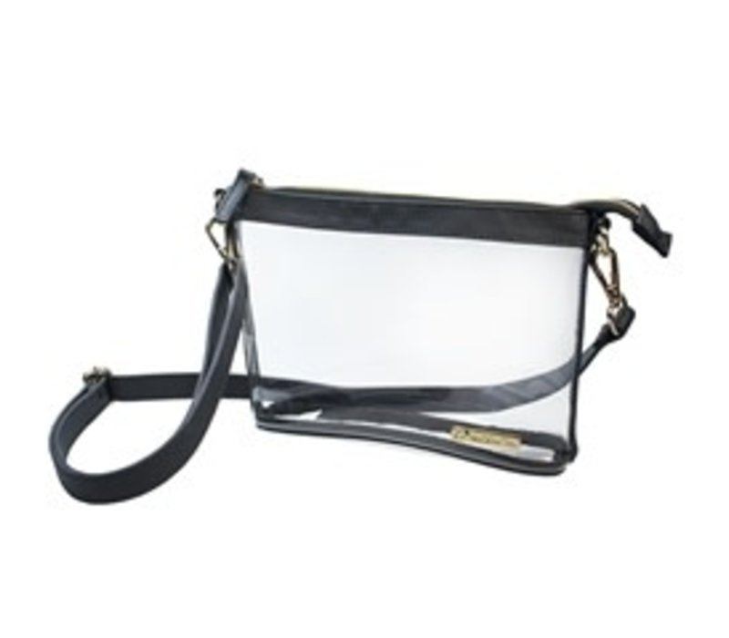 Small Crossbody- Clear PVC with Black and Gold