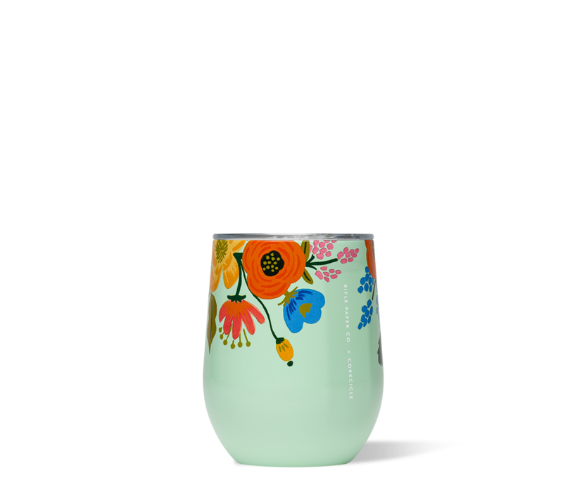 Rifle Paper Stemless-Lively Floral Mint
