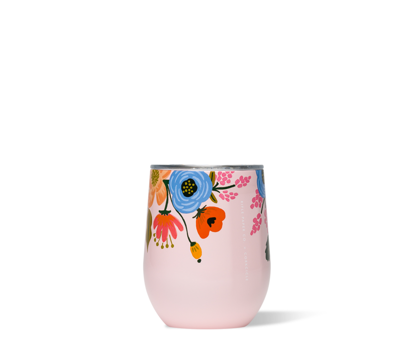 Rifle Paper Stemless-Lively Floral Blush