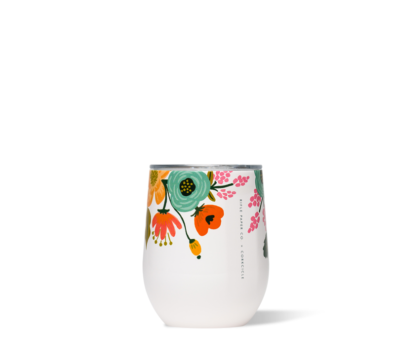 Rifle Paper Stemless-Lively Floral Cream