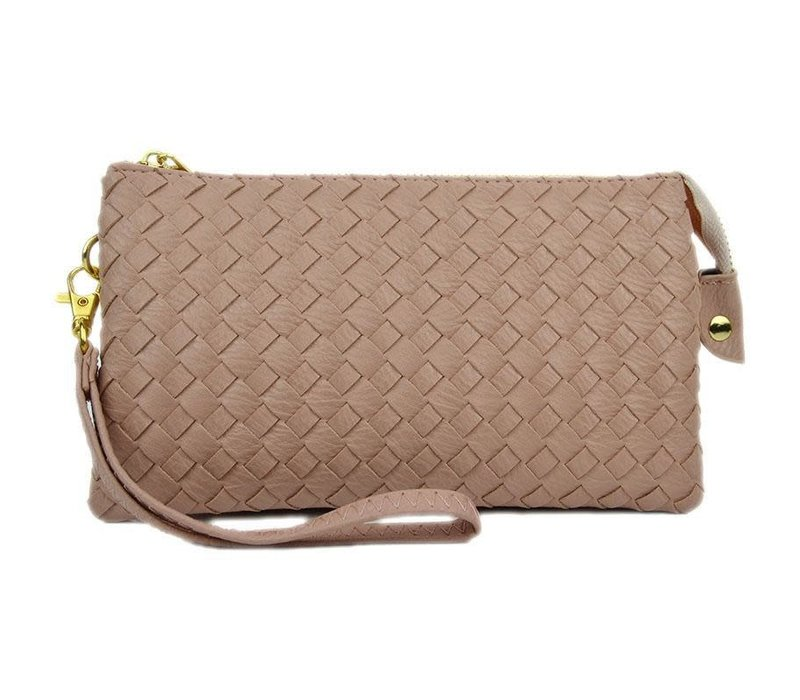 Blush Woven 3 Way Crossbody