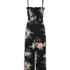 Bishop+Young Black Florentina Jumpsuit with Flowers