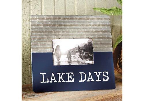 Lake Days Tin & Enamel Frame