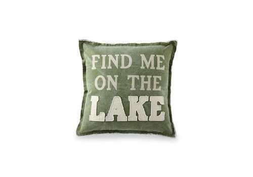 Find me on the Lake Washed Canvas Lake Pillows
